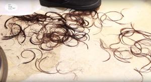 カットした髪の毛
